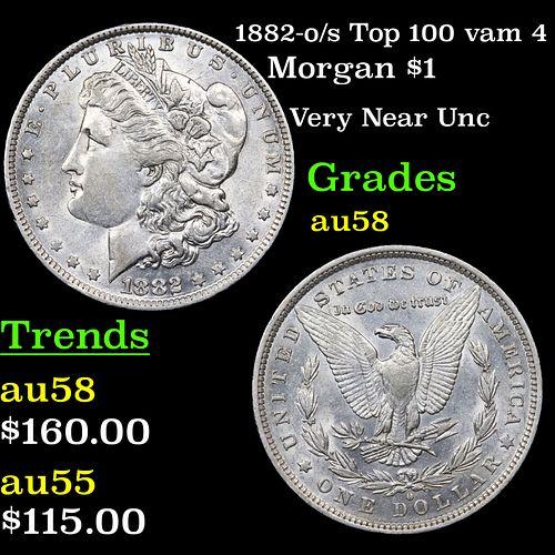1882-o/s Top 100 vam 4 Morgan Dollar $1 Grades Choice AU/BU Slider