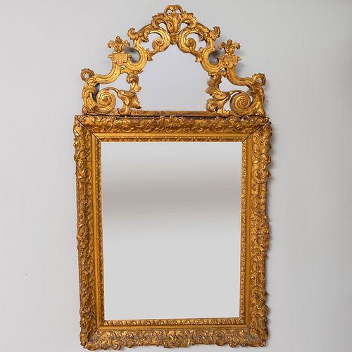 Régence Style Giltwood Mirror