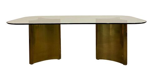 Pair of Tables Bases in Solid Brass by Mastercraft