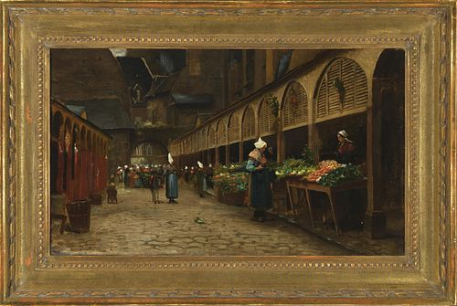 George de Forest Brush, Market Day in Brittany (The Marketplace), 1876