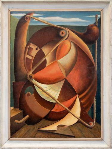 Frank Mechau, Abstraction Méchanique, 1929