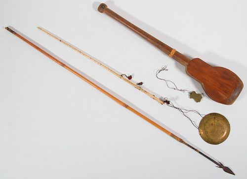 19TH C. CHINESE OPIUM SCALE AND ARROW