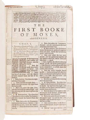 """[BIBLE, in English]. The Holy Bible, Conteyning the Old Testament, and the New""""¦ London: Robert Barker, 1611."""