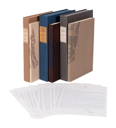 [PERISHABLE PRESS]. Three works published by The Perishable Press, Mount Hebron, Wisconsin, ALL THE BINDER'S COPIES, comprising: