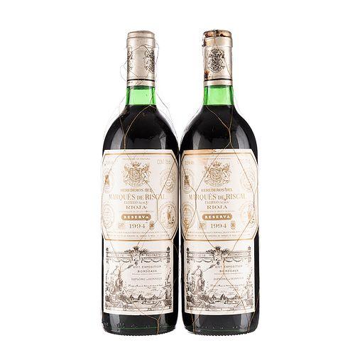 Herederos del Marqués de Riscal. Reserva 1994. Rioja. España. Piezas: 2. En presentaciones de 750 ml.