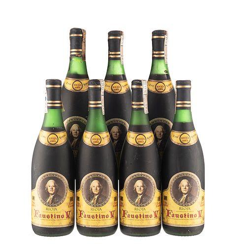 Faustino V. Reserva 1983. Rioja. España. Piezas: 7. En presentaciones de 750 ml.