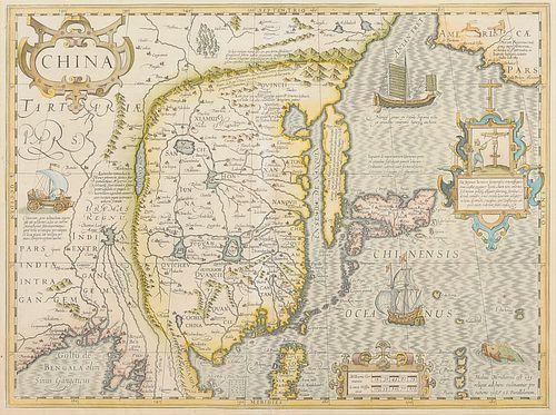 [CHINA] -- HONDIUS, Jodocus (1563-1611). China. [Amsterdam, 1606 or later].