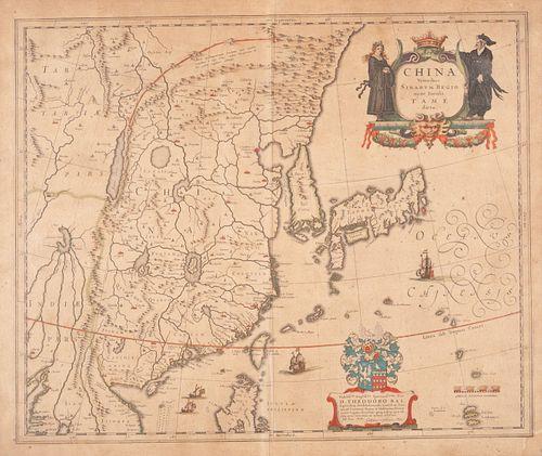 [CHINA] -- BLAEU, Willem (1571-1638) and Jan BLAEU (1596-1673).China Veteribus Sinarum Regio. Amsterdam, ca 1640.
