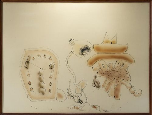 "John Altoon ""Harper Series"" Watercolor & Ink"