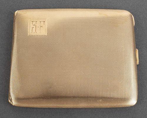 Art Deco 14K Yellow Gold Cigarette Case