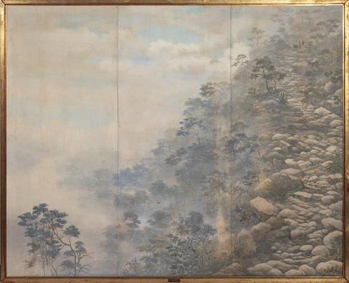 """Gonzalo Ariza """"Camino de Herradura"""" Oil Triptych"""