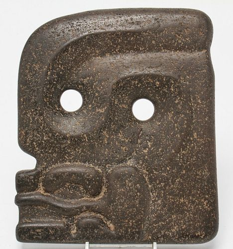 Pre-Columbian Mayan Guatemalan Face Carved Stone