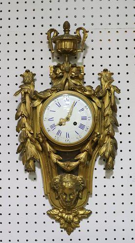 Fine Gilt Bronze French Cartel Clock.