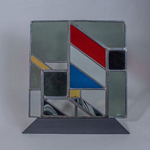 Aristides Cohen. Vitral emplomado / Geometrical stained glass