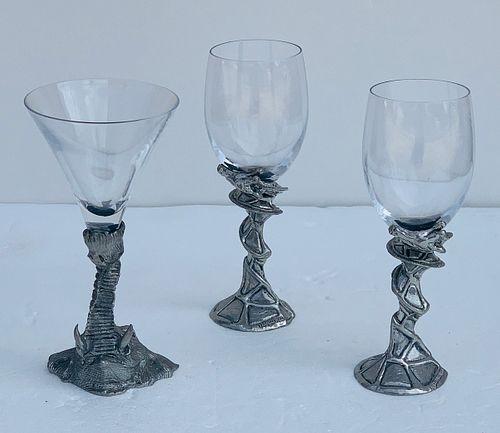 Wine & Martini Glasses by Frankli Wild/Royal Selangor