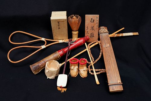 Group of Japanese Woodenware