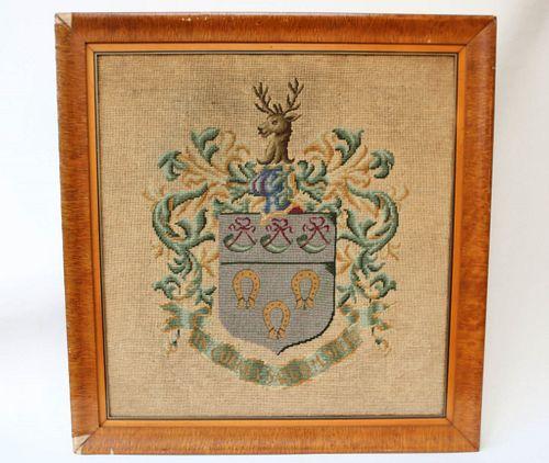 Needlework Coat of Arms