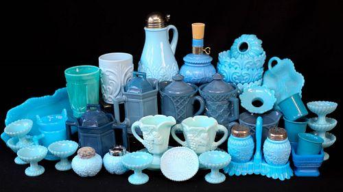 Blue Opaline Glass