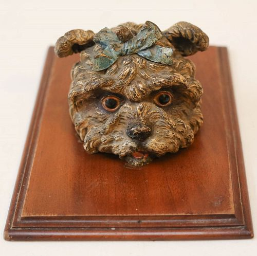 Cold Painted Bronze Paper Holder