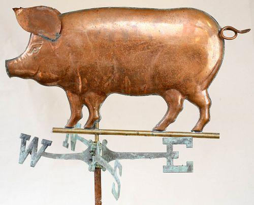 Copper Pig Weathervane