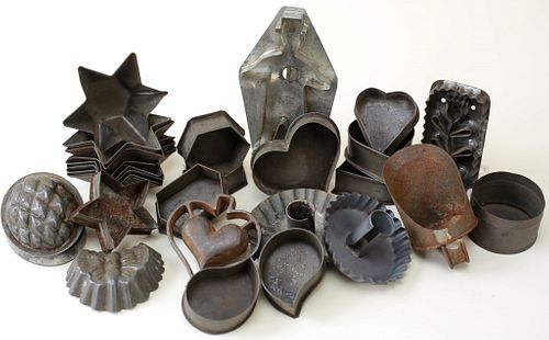 Group of Early Tinware