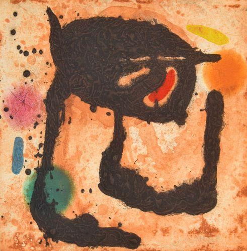 "Joan Miro ""Le Dandy"" Etching/Aquatint, Signed Edition"