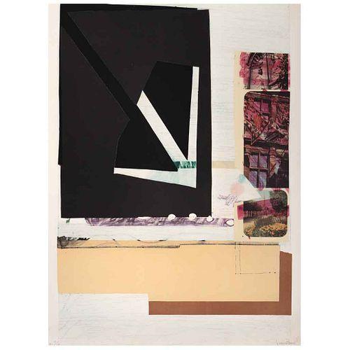 "FERNANDO GARCÍA PONCE, Composition 12, 1978, Signed, Lithography HC 15/15, 29.7 x 22"" (75.5 x 56 cm)"