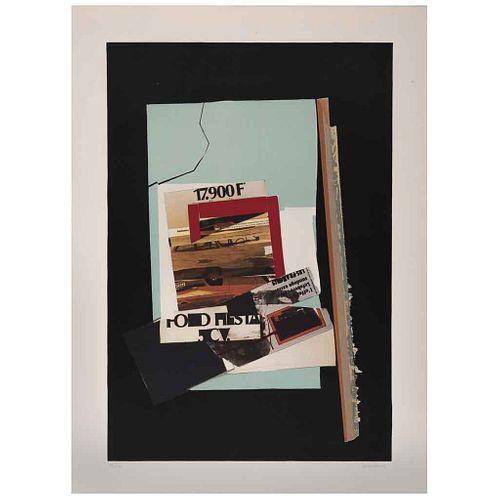 "FERNANDO GARCÍA PONCE, Composition 5, 1978, Signed, Lithography HC 11/15, 25.5 x 17.5"" (65 x 44.5 cm)"