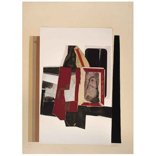 "FERNANDO GARCÍA PONCE, Composition 10, 1978, Signed, Lithography H.C., 26.7 x 22"" (68 x 56 cm)"