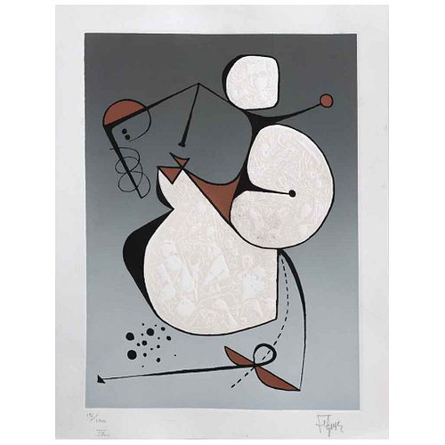 "MANUEL FELGUÉREZ, Untitled, Signed, Serigraph 15 / 100, 9 x 7"" (23 x 18 cm)"