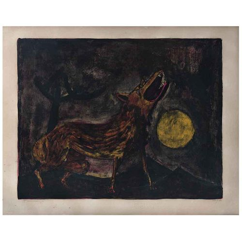 """RUFINO TAMAYO, Coyote, 1950, Signed, Lithography 100 / 100, 16.4 x 21"""" (41.7 x 53.5 cm)"""