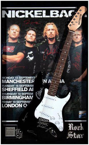 Nickelback signed guitar