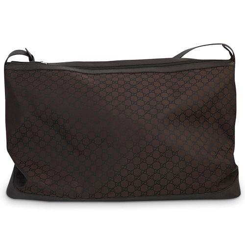 Gucci Brown Monogram Duffle Bag