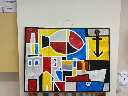 Construcción (boceto para el mural de St. Bois) by Mr. Patrick Sutch's Class