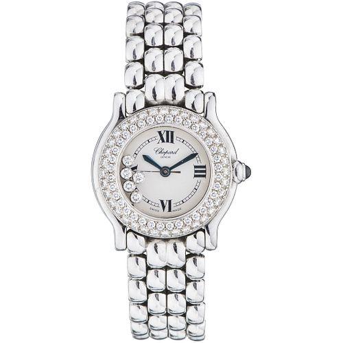 CHOPARD HAPPY SPORT LADY WATCH WITH DIAMONDS IN STEEL REF. 8245  Movement: quartz