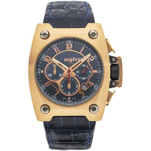 WYLER CODE R INCAFLEX CHRONOGRAPH WATCH IN 18K PINK GOLD REF. 102 461  Movement: automatic