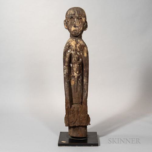 Kenyah-Kayan Dayak Hardwood Post Figure, Hampatong
