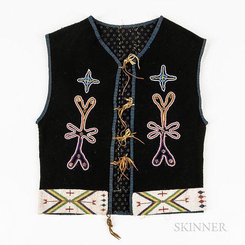Central Plains Beaded Cloth Vest
