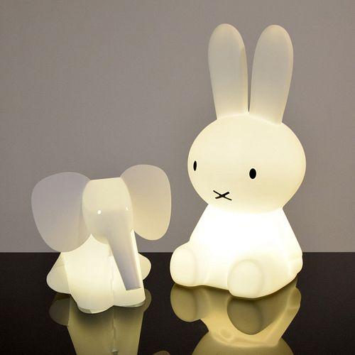 Crea Elephant & Mr Maria Bunny Lamps, Paige Rense