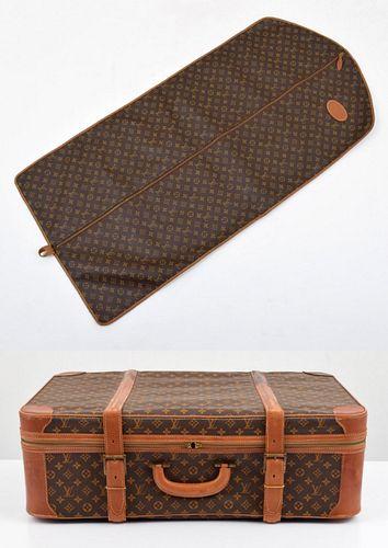 Louis Vuitton Garment Bag & Suitcase, Paige Rense Noland Estate
