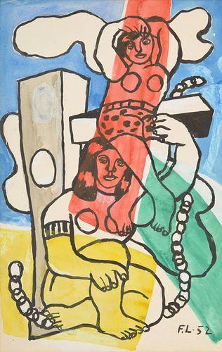 Fernand Leger Gouache Painting