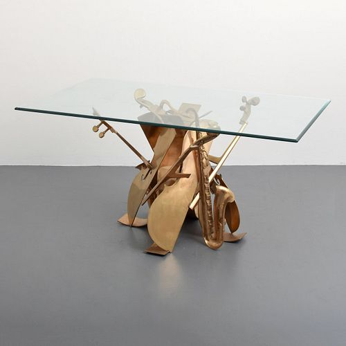 Arman Sculptural Bronze Dining Table