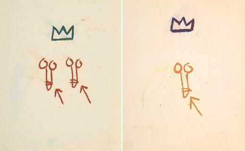 2 Jean-Michel Basquiat Penis Drawings, LOA