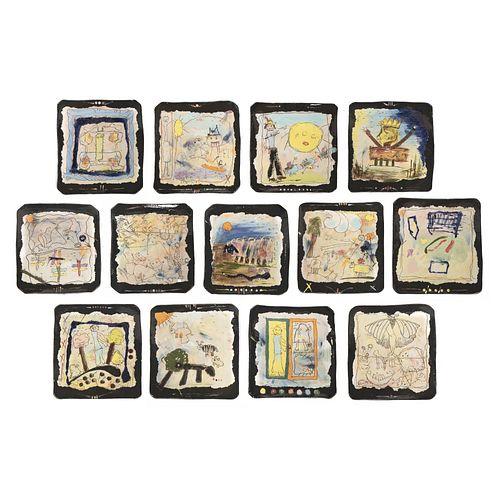 Donald Reitz, Okun 50th Wedding Anniversary Plates
