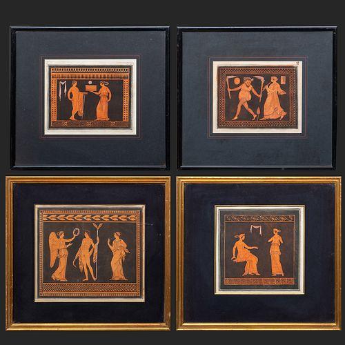 Sir William Hamilton (1730-1803): Neoclassical Scenes: Four Plates