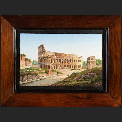 Fine Italian Micromosaic of the Colosseum and the Arch of Constantine, Rome