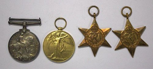 A British War medal 1914-1918 medal and The Victory medal, awarded to 130 Pte G.H Sarson R.A.M.C, to