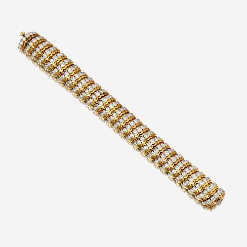 An eighteen karat gold and diamond bracelet, Van Cleef & Arpels c. 1950