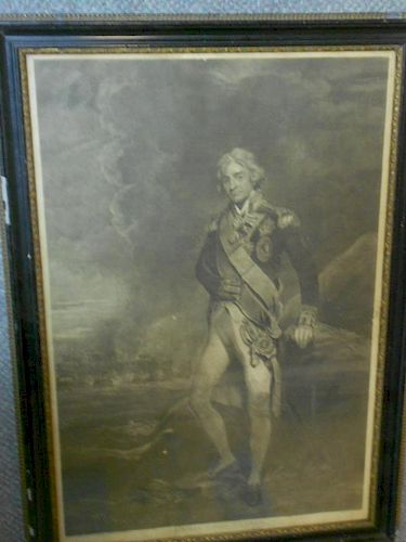 C. Turner after Hoppner, Admiral Lord Nelson, portrait mezzotint, 61½ x 41cm (24 x 16in)