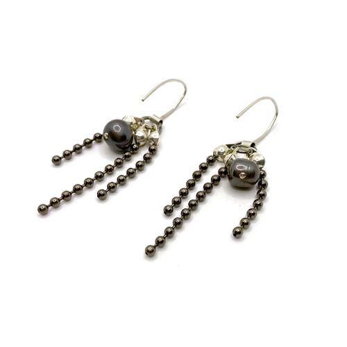 Sea Change Pearl Titan Earrings